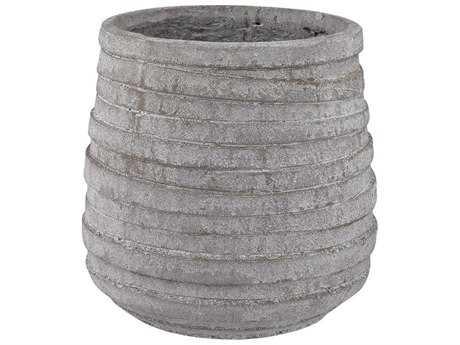 Dimond Home Barn Gray Corrugated Pot