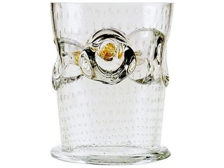Driade Borek Sipek Albaret Clear Glass Vase With Amber Accents