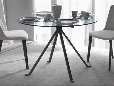 Driade Cugino Round Dining Table with Tempered Glass Top DRH830049T