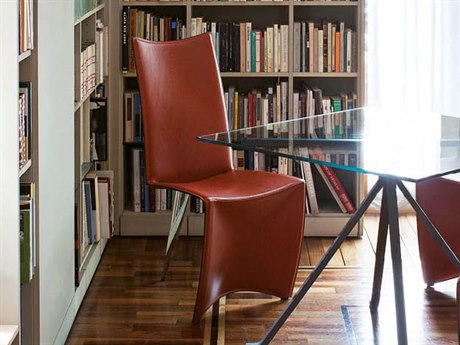 Driade Ed Archer Leather Side Dining Chair