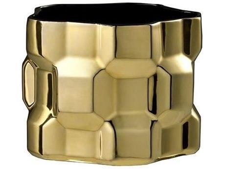 Driade Gear By Philippe Bestenheider Glossy Gold Vase