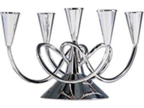 Driade Matthew Boulton II Polished Nickeled Brass Candleholder