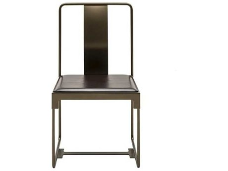 Driade Mingx Steel Side Dining Chair with Leather Seat DRH842030