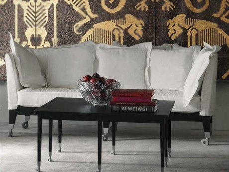 Driade Neoz Three-Seater Sofa with Nine Throw Cushions DRH8617055