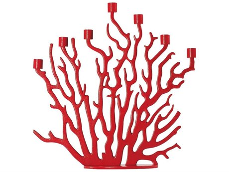 Driade Tenochtitlan Red Painted Aluminum Candleholder