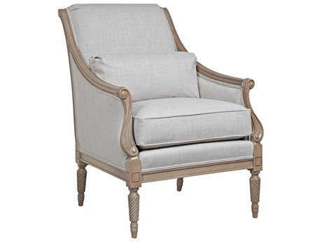 Duralee Alba Tight Back Carved with Kidney Pillow & Double Welt Accent Chair DRLOS7114015
