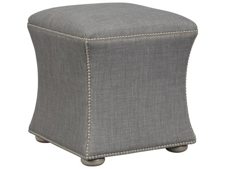 Duralee Alice Hourglass Ottoman with Smoke Wood Base DRLOS5063000