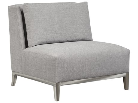 Duralee Barton Boxed Back Accent Chair with Platinum Metal Base DRL30645M