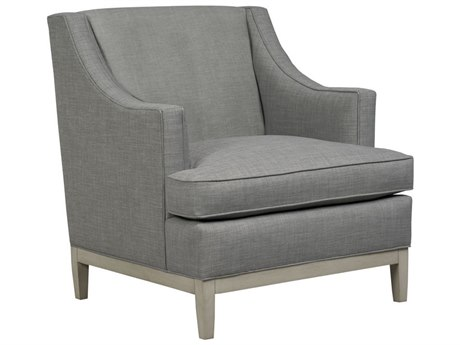 Duralee Cardiff Tight Back Accent Chair with Smoke Wood Base