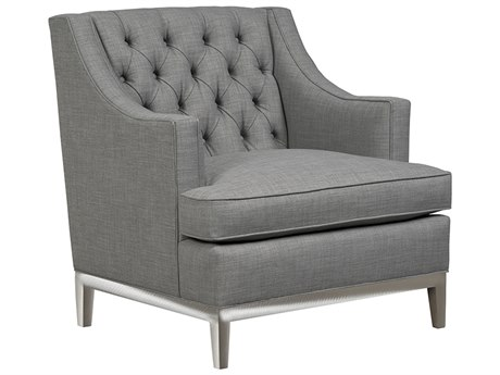 Duralee Carmel Button Tufted Tight Back Accent Chair with Platinum Metal Base DRL30612M