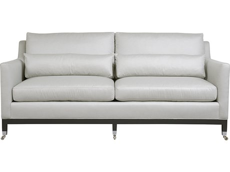 Duralee Chelsea Boxed Back Sofa with Two Kidney Pillow