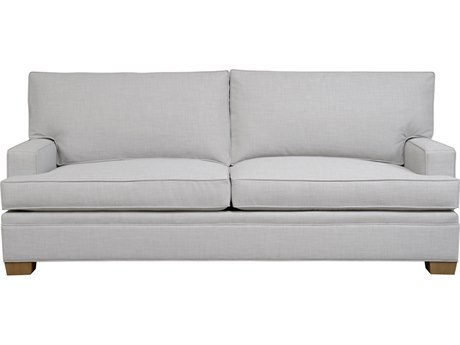 Duralee Columbia Boxed Back Sofa with Track Arm