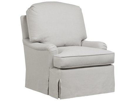 Duralee Dianne Knife Edge Back Accent Chair with English Arms & Waterfall Skirt DRL30560