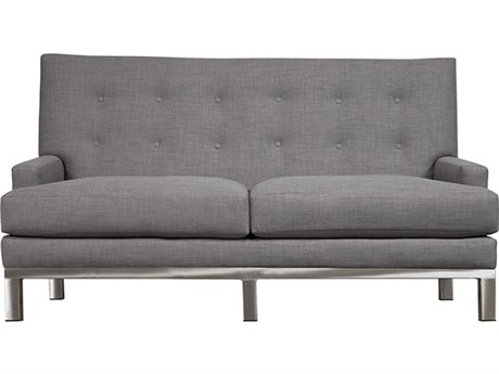 Duralee Downtown Tight Back Sofa with Platinum Metal Base