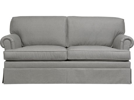 Duralee Georgetown Knife Edge Back Sofa with Rolled Panel Arms & Kick Pleat Skirt