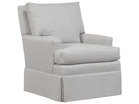 Duralee Hanson Boxed Back Accent Chair with Small Track Arm