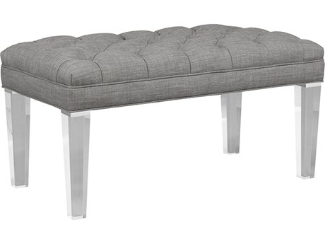 Duralee Kendall Button Tufted Accent Bench