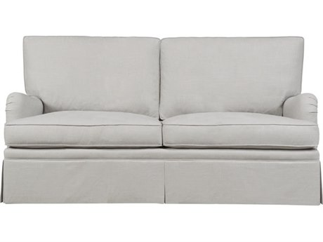 Duralee London Boxed Back Double Sleeper Sofa with English Arm & Kick Pleat Skirt DRL1012972