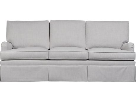 Duralee London Boxed Back Queen Sleeper Sofa with English Arm & Kick Pleat Skirt DRL1012984
