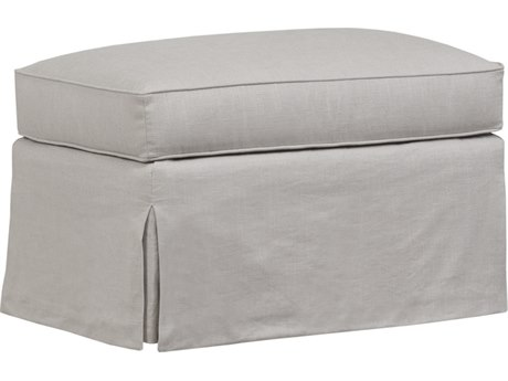 Duralee Madison Ottoman with Waterfall Skirt