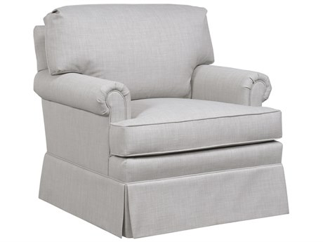Duralee Meagan Knife Edge Back Club Chair with Rolled Arms DRLOS4006017
