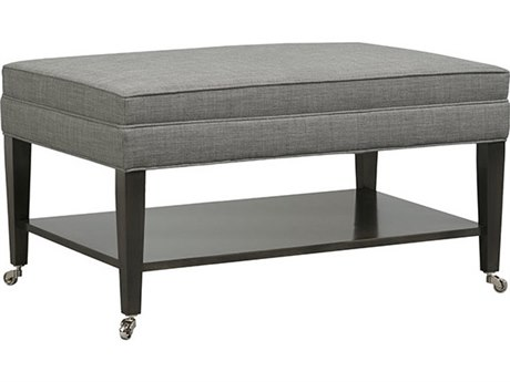 Duralee Newtown Ottoman with Shelf & Caster