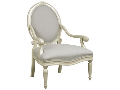 Duralee Armond Oval Tight Back Carved with Double Welt Accent Chair