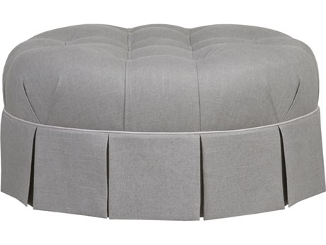 Duralee Pamona Round Tufted Ottoman with Skirt DRLOS1005000