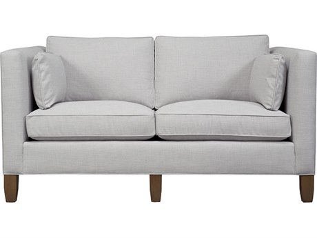 Duralee Park Avenue Boxed Back Sofa with Two Side Pillows