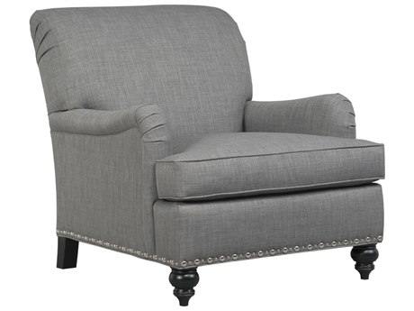 Duralee Parkdale Tight Back Accent Chair with English Arms & Nailhead DRL30122
