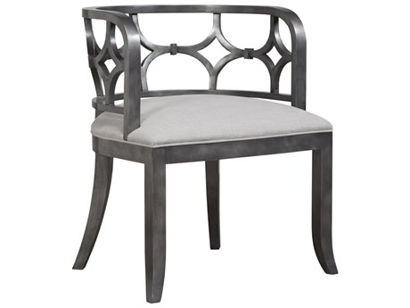 Duralee Salinas Carved Exposed Barrel Accent Chair
