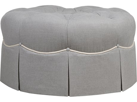Duralee Seville Tufted Tight Top 36'' Wide Ottoman with Decorative Cord