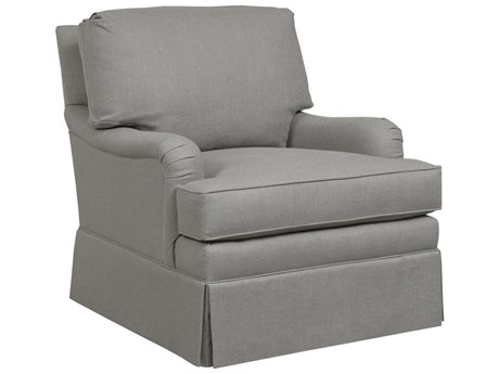 Duralee Sheridan Knife Edge Back Accent Chair with Kick Pleat Skirt DRLOS1600019