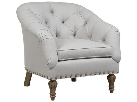 Duralee Siena Diamond Button Tufted Back Accent Chair