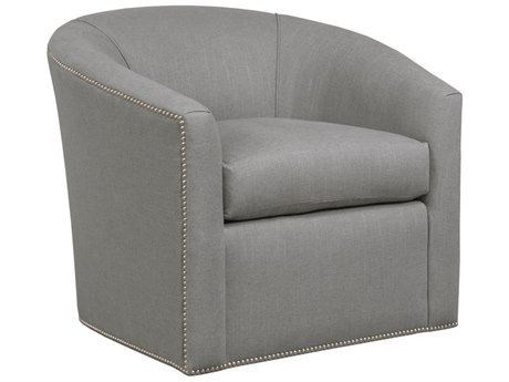 Duralee Springfield Tight Back Swivel Tub Accent Chair with Nailhead