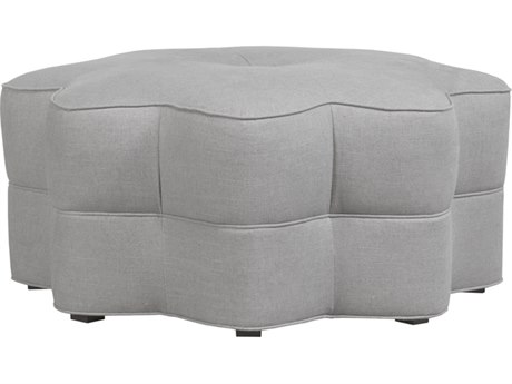 Duralee Star Star Shaped Tight Ottoman with Banded & Center Button