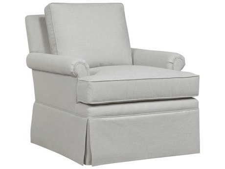 Duralee Toledo Boxed Back Swivel Glider Rocking Chair with Rolled Arms DRL30690