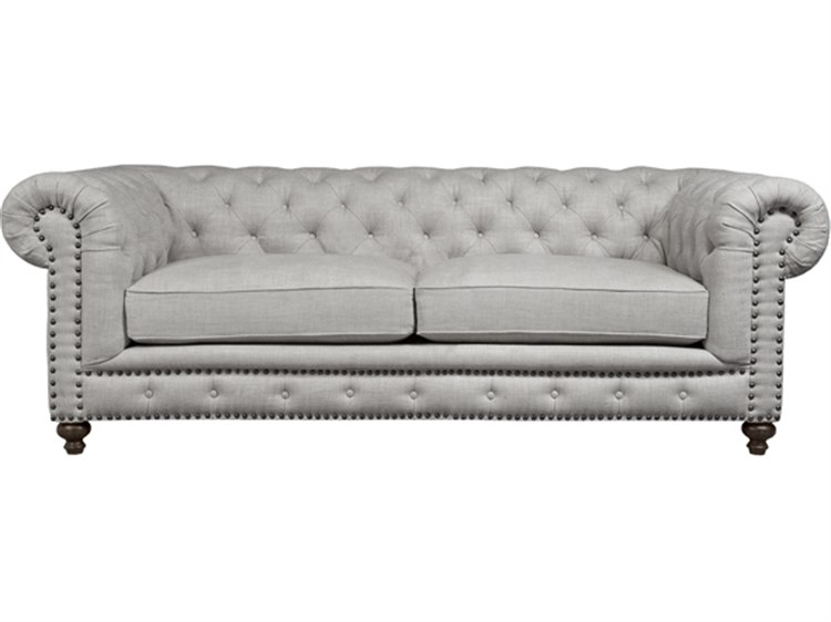 Duralee Torrey Tufted Back Chesterfield Sofa With Nailhead