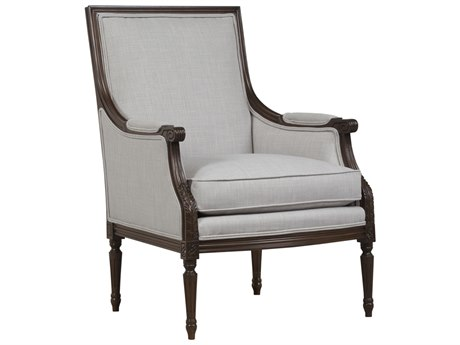 Duralee Toulouse Tight Back Louis XVI Carved Accent Chair DRL35260