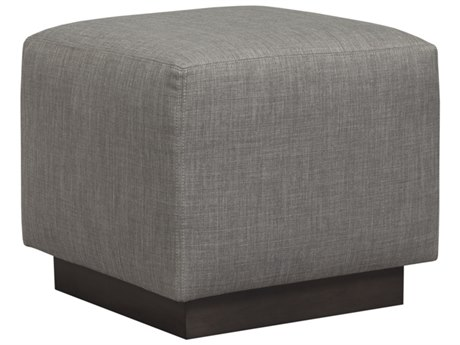 Duralee Trent Cubed Ottoman with Sable Wood Plinth Base