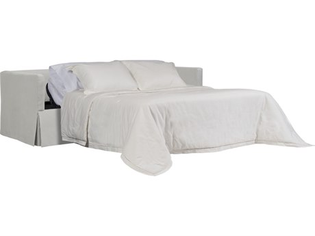 Duralee Whister Boxed Back Twin Sleeper Sofa with Waterfall Skirt & Two Bolsters DRL105451T