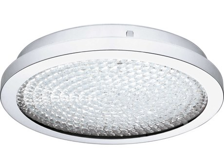 Eglo Arezzo 2 Chrome 14'' Wide LED Flush Mount Light EGL202511A