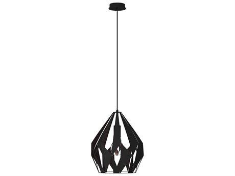 Eglo Carlton I Black & Copper I3'' Wide Pendant Light EGL49254A