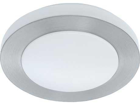 Eglo Carpi Brushed Aluminum 12'' Wide LED Flush Mount Light EGL93287A