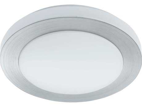 Eglo Carpi Brushed Aluminum 16'' Wide LED Flush Mount Light EGL93288A
