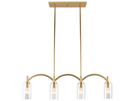 Eglo Devora Antique Gold 36'' Wide Glass Island Light