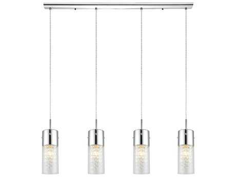 Eglo Diamond Chrome Four-Light 40'' Long Island Light EGL90696A