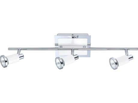 Eglo Eridan Chrome & Shiny White Three-Light 23'' Long Track Light EGL200097A
