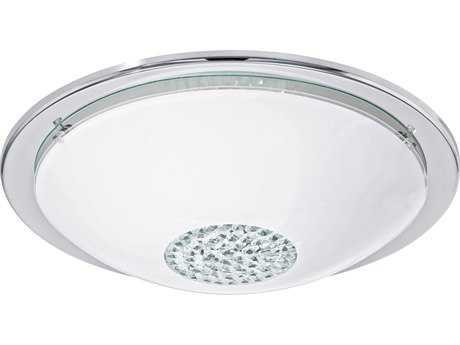 Eglo Giolina Chrome 15'' Wide LED Flush Mount Light EGL93778A