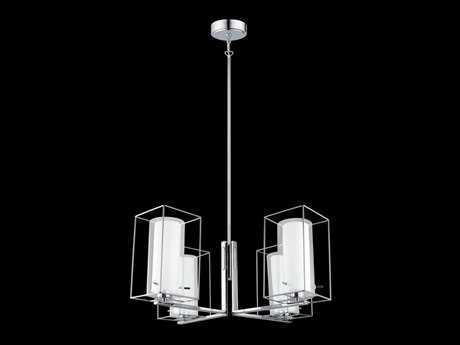 Eglo Loncino I Chrome Four-Light 28'' Wide Chandelier EGL201509A